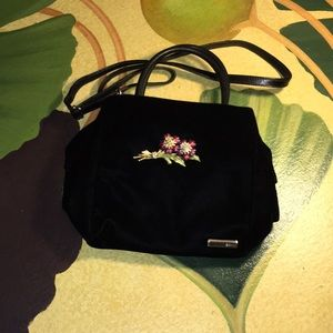 DKNY Velvet Evening Bag w/brooch